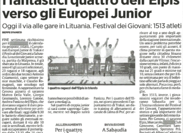 I fantastici quattro dell'Elpis verso gli Europei Junior