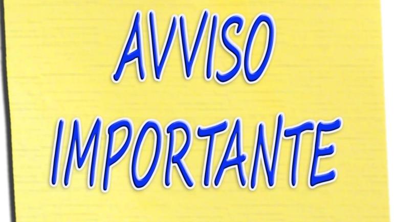 AVVISO IMPORTANTE A TUTTI I SOCI